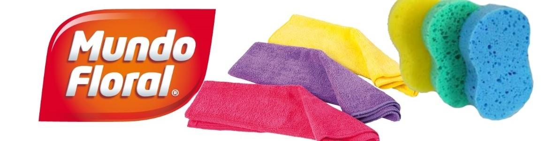 Productos marca Mundo Floral para limpieza del hogar.
